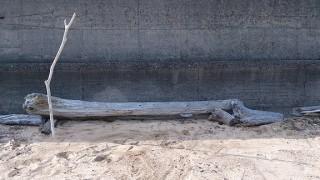 浜辺のベンチ